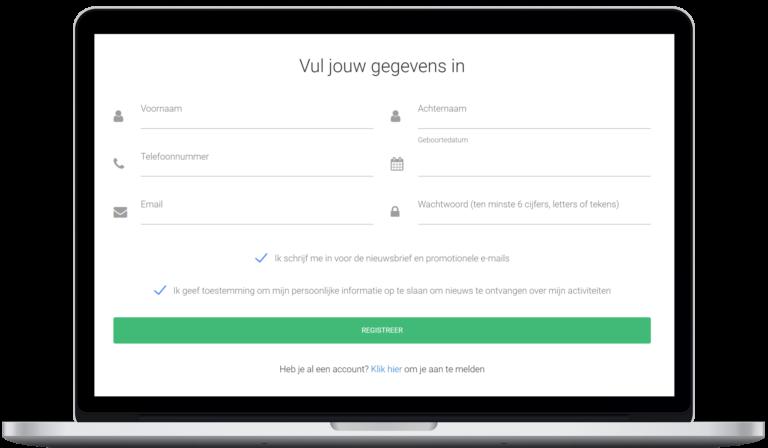 Screenshot monitoren sign up